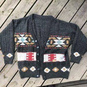 Vintage Cozy Knit Aztec Southwest Cardigan🌿